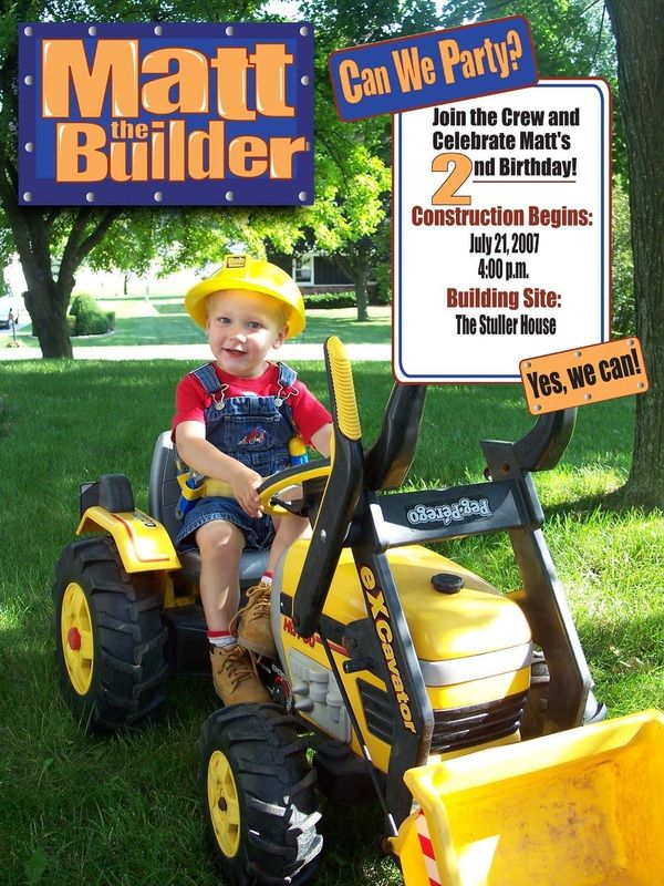 19 best Bob The Builder Birthday Ideas images – Bob the Builder Party Invitations