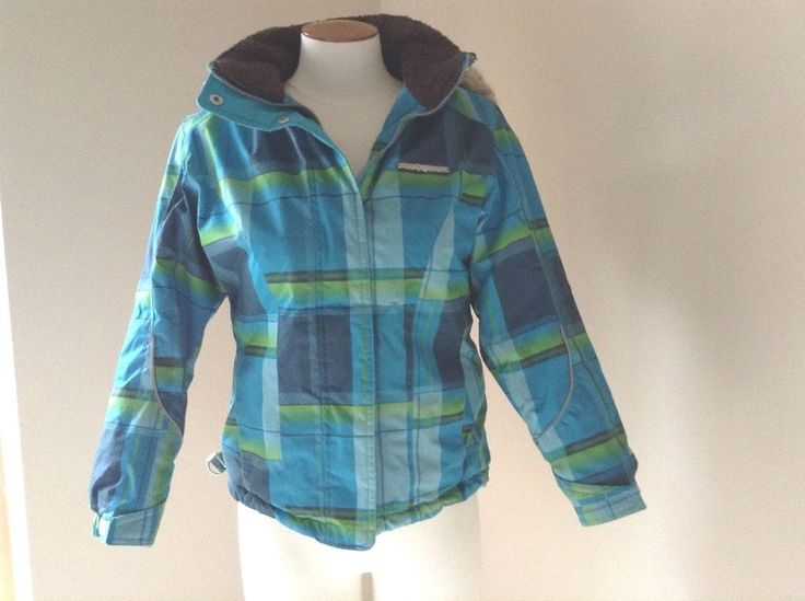 Girls Blue Plaid Winter Jacket Coat ZeroXpos Detachable Hood Size M 10/12 #ZeroXposur #PufferJacket