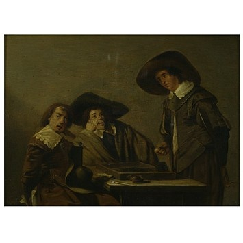 Backgammon players (Oil painting)        Date: mid 17th century (painted)      Place: Netherlands      Artist/maker: Codde, Pieter
