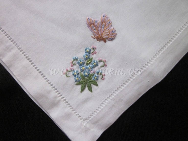 Vietnam hand Embroidery Napkin - QNK 006 http://vinaem.vn/
