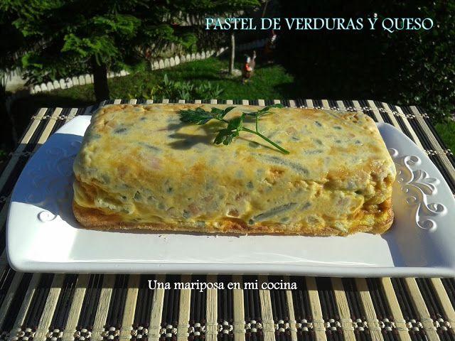Pastel de verduras y queso