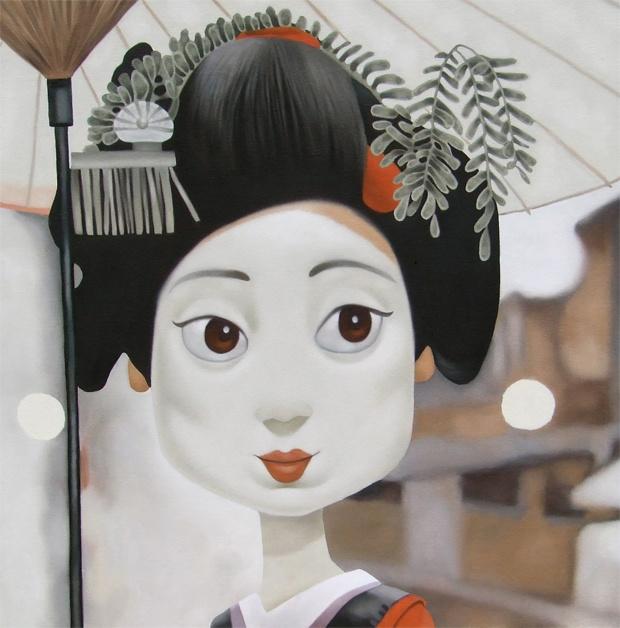 Geisha Girl. Oil on canvas 2010