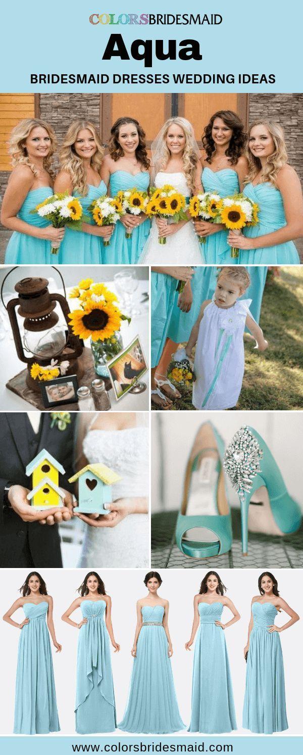 Blue Bridesmaid Dresses Aqua Color Aqua Blue Bridesmaid Dresses