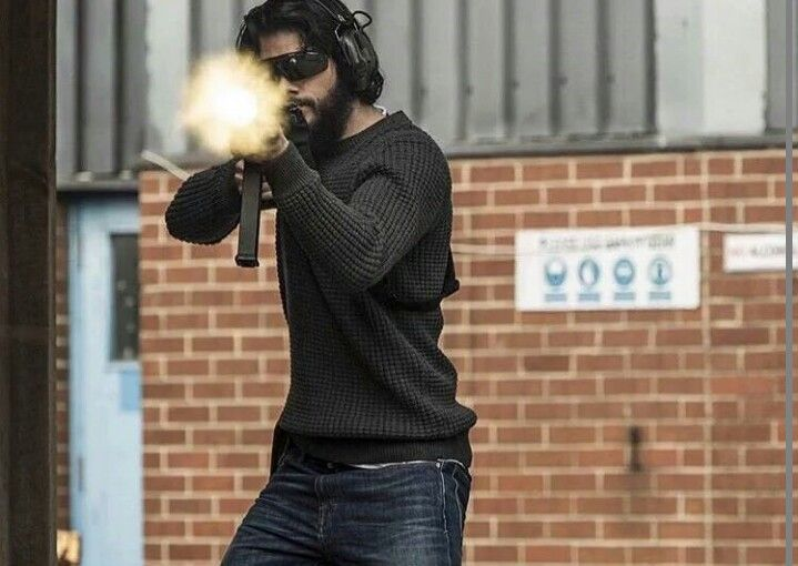 Dylan O'Brien in his new movie American Assassin (based off of the book by Vince Flynn which btw is an amazing book)Can't wait for the movie!!!