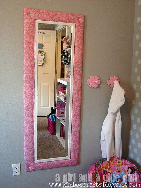 back door to garage maybe baseboard instead of fabric glued to a cheap mirror for the. Black Bedroom Furniture Sets. Home Design Ideas