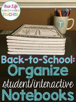 Back to School: Interactive Notebook Organization | True Life I'm a Teacher