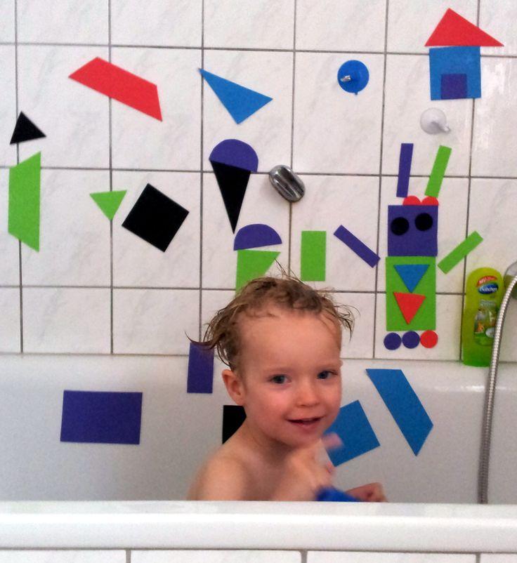 Moosgummi-Badewannenspiel: Moosgummi in gewünschte Formen schneiden - fertig!