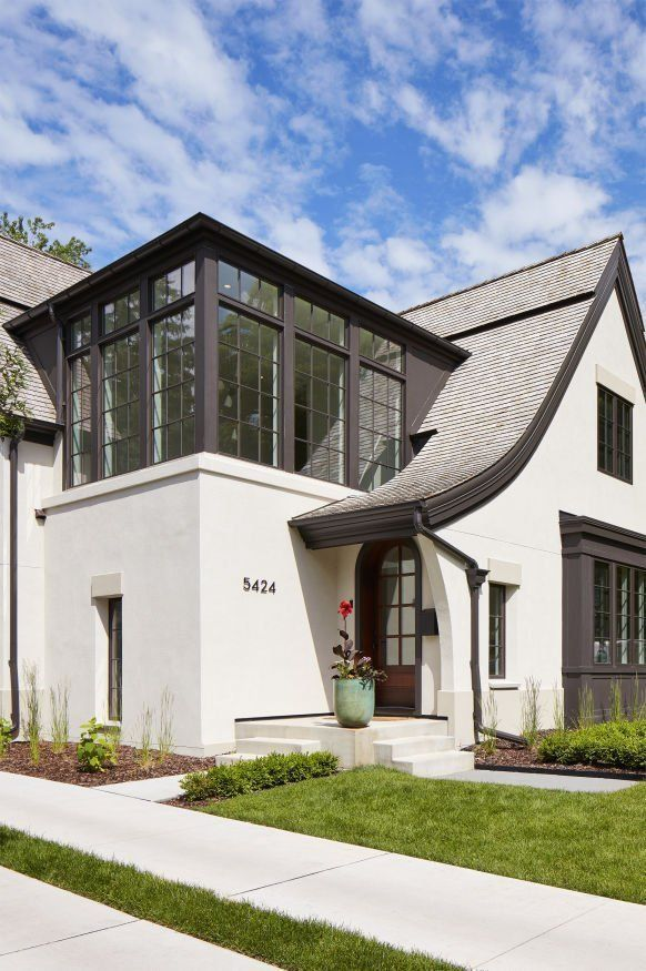 Modern Tudor House Exterior Design Charlie Co Design