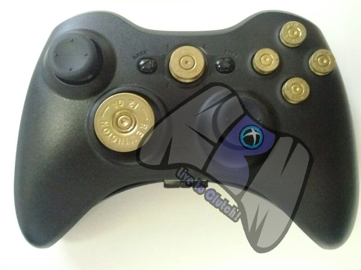 Custom Xbox 360 Controller Brass Bullet Button Set $32.00 ...