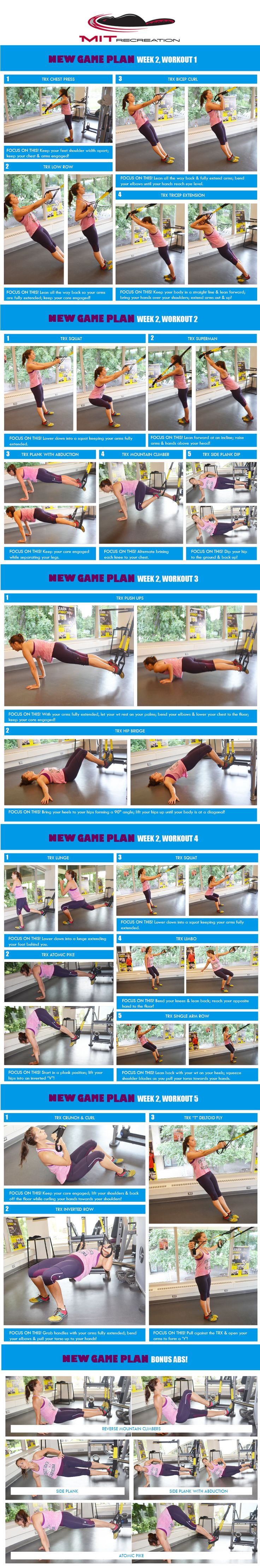 New Game Plan MIT Week 2 - Are you ready for NEW Game Plan week two? These TRX workouts are a sure way to challenge your muscles! - http://www.amazon.co.uk/dp/B00RLH0M6C http://www.amazon.de/dp/B00RLH0M6C