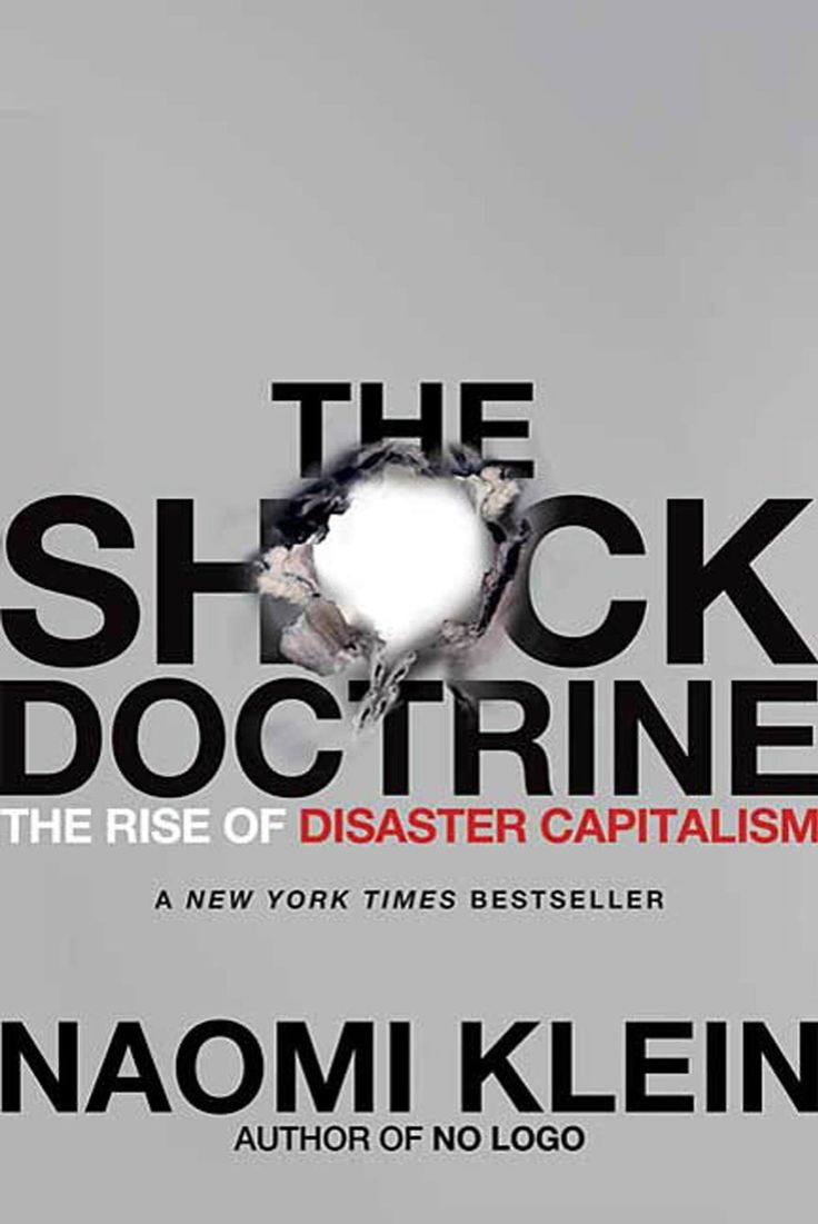 """""""Klein beschrijft hoe het neoliberalisme crisissen gebruikt en zelfs uitlokt om hervormingen door te voeren.""""  RACHIDA AZIZ, modeontwerpster"""