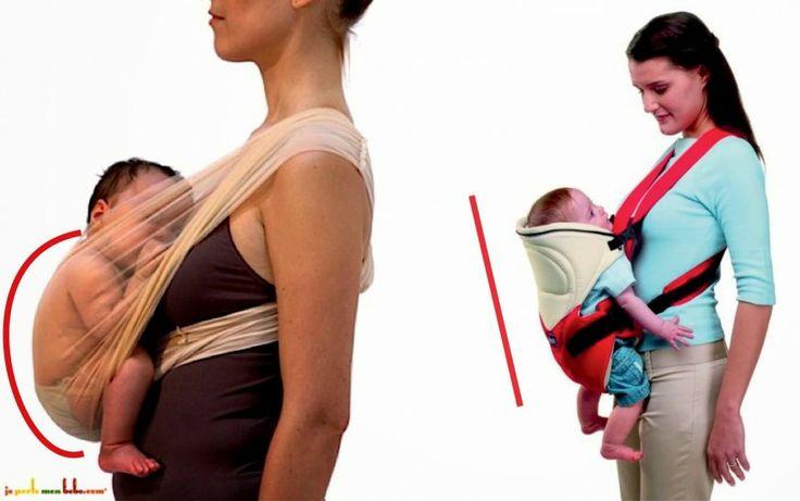 De la ce vârstă poate fi purtat bebe în marsupiu?  Etapele dezvoltării coloanei vertebrale a bebeluşului.  Şi care este poziţia corectă?