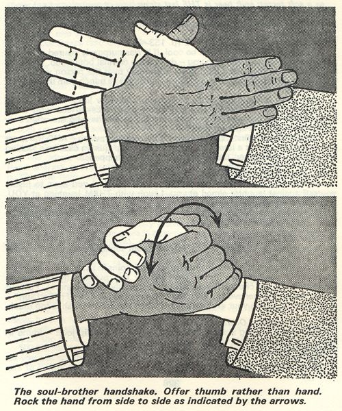 soul  brother handshake, from Survival in the City, Anthony Greenbank, 1974