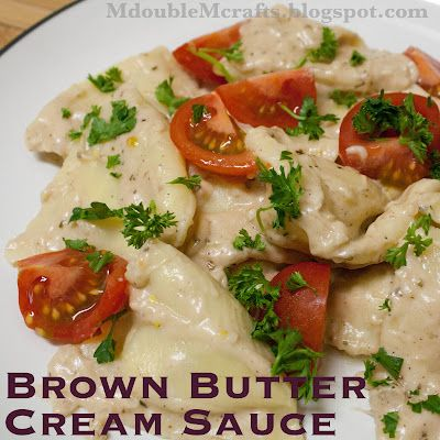 Brown butter cream sauce (recipe).: Sauce Recipes, Food, Brown Butter Cream Sauces, Cream Sauces Pasta, Dips Butters Cheeseball, Cream Sauces Recipe, Yummy Dinner, Cream Sauce Pasta, Yummy Pasta