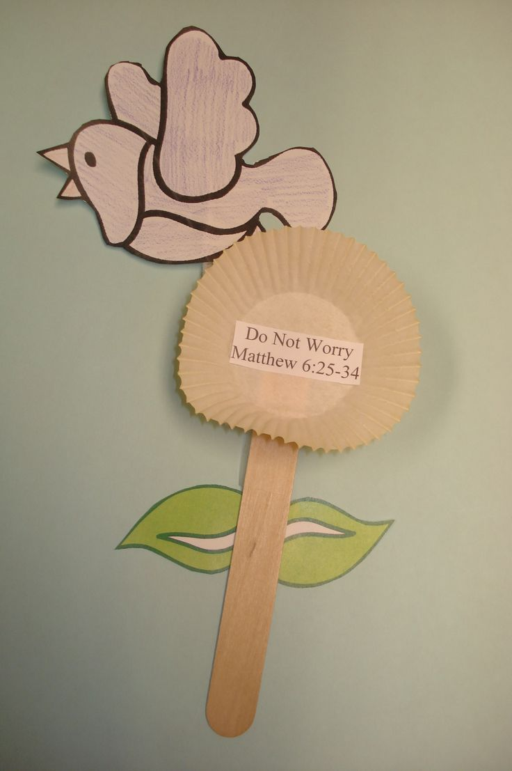 Toddler sunday school crafts - Bible Story Matthew 6 25 34 What He Has Done Jesus Taught Nursery Craftsmatthew