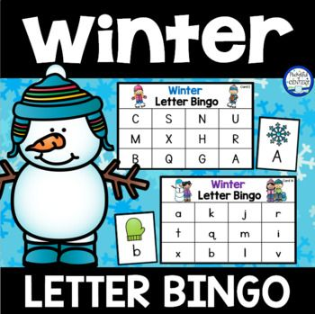 Winter Letter Bingo is a fun way to practice uppercase and lowercase letter recognition. Use for small group instruction, learning centers, or class parties! This set includes: 10 uppercase game boards 26 uppercase letter cards 10 lowercase game boards 26 lowercase letter
