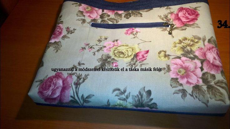 Dupla táska varrása,leírása