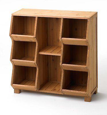 Cubby Storage Unit Shelf Organizer Furniture Wood Toy Bin Closet Garden Rustic                                                                                                                                                     More