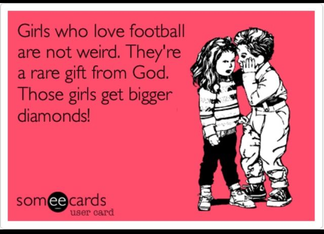 Agree!!! What can I say...I was born during football season and my dad has been a high school football coach since before I was born!!!