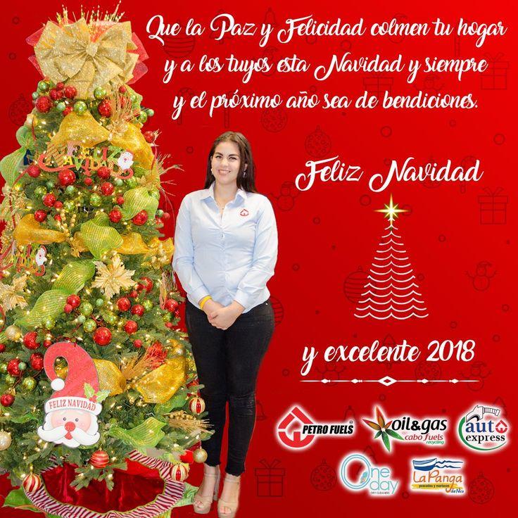 Que la Paz y Felicidad colmen a tu hogar y los tuyos esta temporrada, y el próximo año, sea de bendiciones. Feliz Navidad y excelente 2018. Le deseamos los empleados, colaboradores y socios de #PetroFuels, #Oil&Gas #CaboFuels, #AutoExpress, #OneDayTintorerias y #LaPangadeNico.