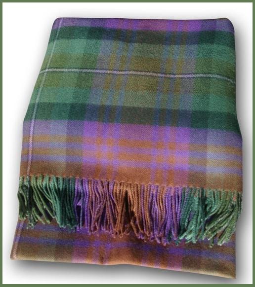 "Isle of Skye Tartan Blanket - ""The colours of Scotland leave me young inside."" Runrig"