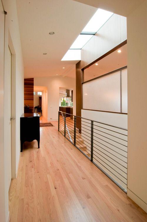 Modern railing and skylight