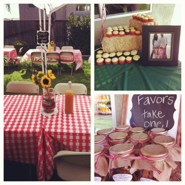 country themed baby shower party ideas pinterest