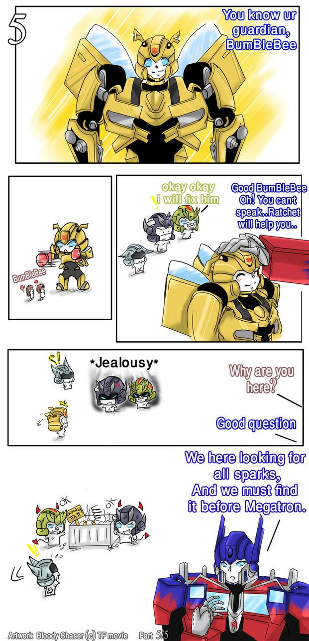 *Gasp* I think i just died! Bumblebee is sooooo adorable. It took by breath away for a minute.
