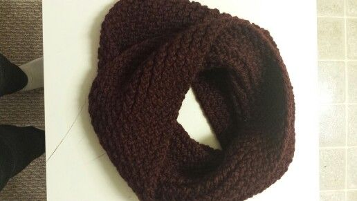 Infinity Scarf in Cranberry. Check out www.facebook.com/oopsie.daisy.scarves.cards