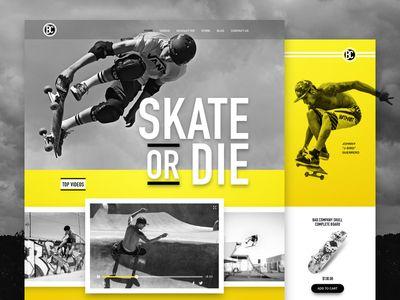 Skateboarding Website Concept