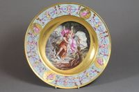 """A Royal Vienna porcelain plate decorated a classical scene 10"""" SOLD FOR £780"""