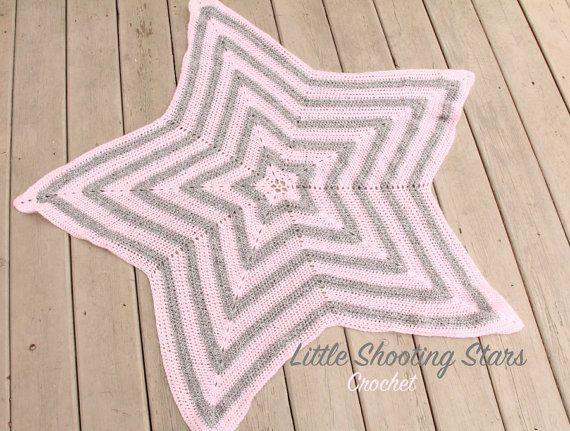 Baby Star Blanket Crochet Baby Star Blanket by LittleShootingStars