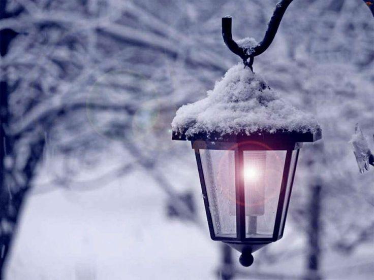 снег на фонарях картинки выложил ролики, которые