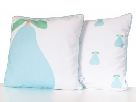 Botany - Pear cushion cover by May & Me. Available at hardtofind.