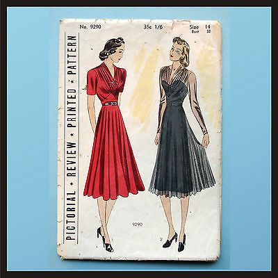Lovely Dress 32 Vintage Sewing Pattern 40s WW2 Reenactment Swing Lindy Hop | eBay
