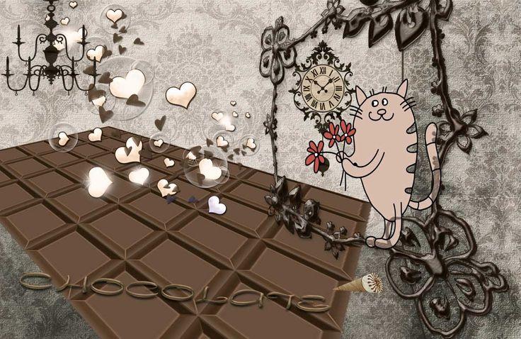 """Готовый проект для слайдшоу """"Шоколад""""."""