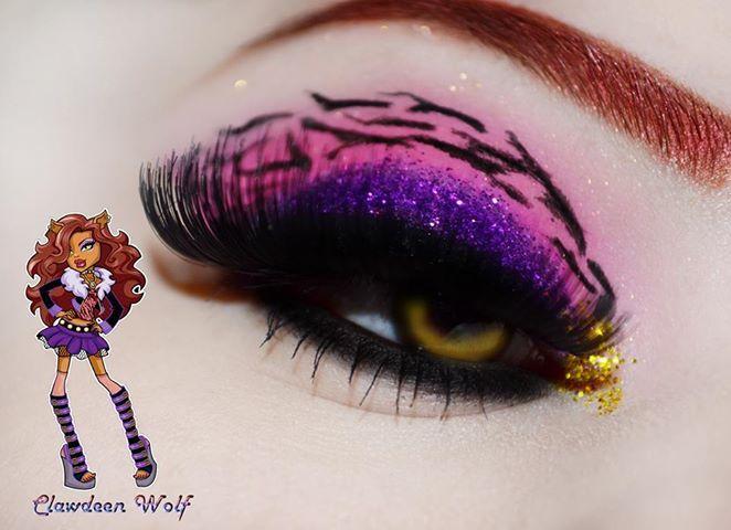 Monster high - Clawdeen eye makeup