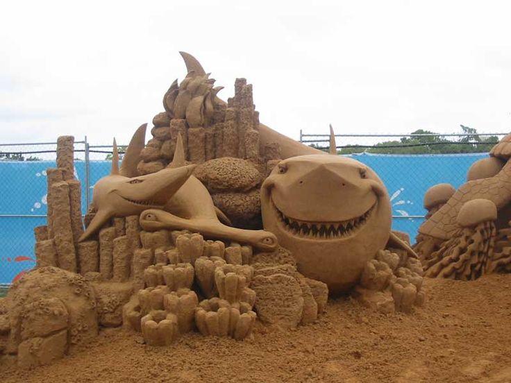 sand: Sands Sculptures, Sands Castles, Sand Sculptures, Walleye, Sandcastl, Ocean Creatures, Sandsculptur, Finding Nemo, Sands Art