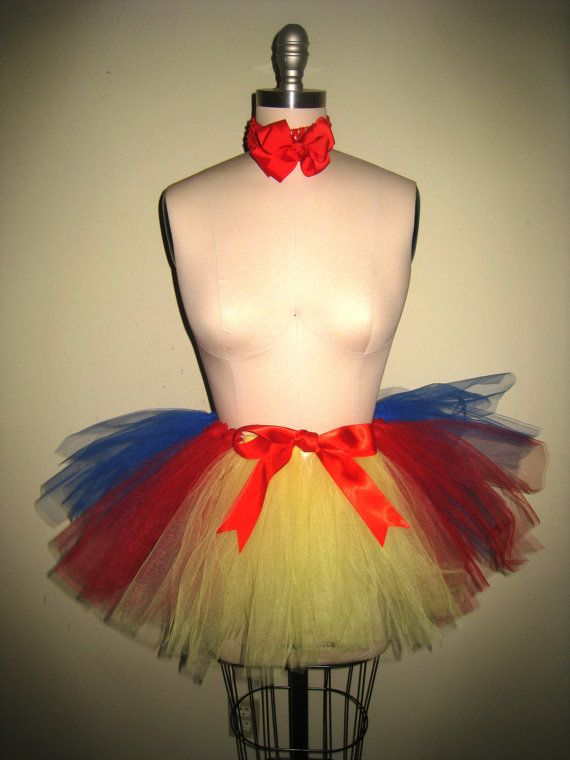 Snow White Costume Tutu for adults by estchang on Etsy