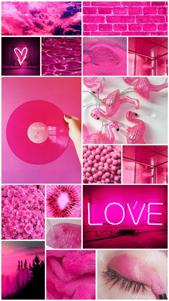 розовые картинки коллаж приготовления
