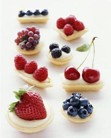 Tartaletas de crema y fruta