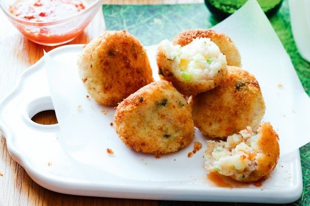 Golden fried on the outside, with a warm and cheesy centre, these crunchy croquettes will be a hit with the kids.
