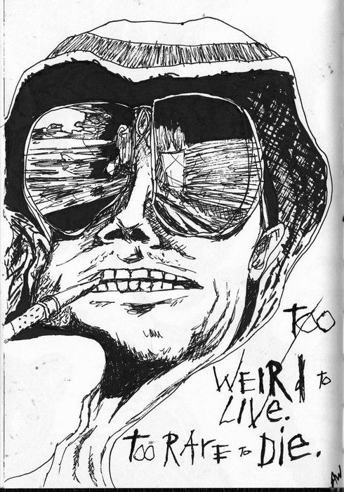 HUNTER S THOMPSON | by RALPH STEADMAN | The Verve List
