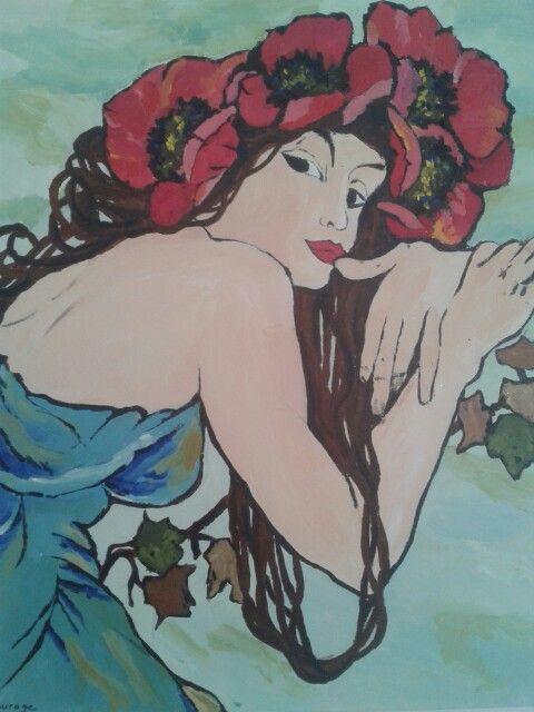 Le madame, acrylverf 2011