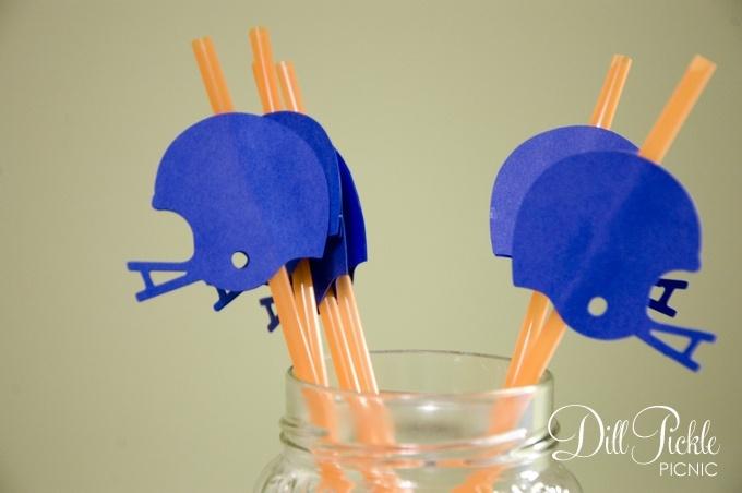 cutie pie straws for football games!