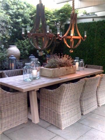 Would love this look for outdoor entertaining area