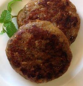 Receita de hamburguer de berinjela com grão-de-bico (vegano)