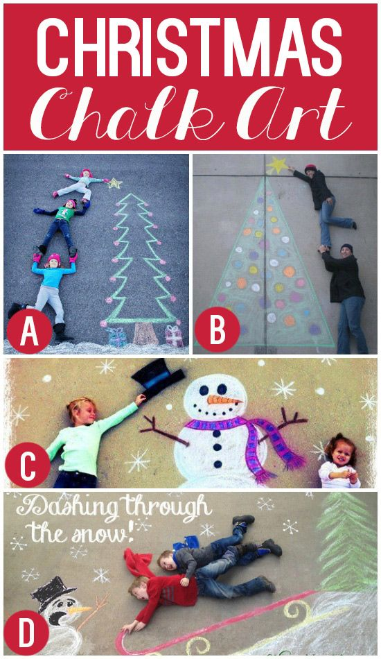 Christmas Chalk Art @tgold this would be so cute