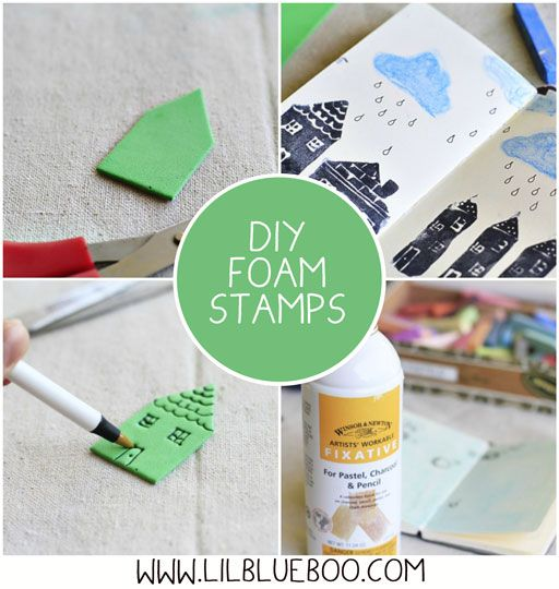 How to make DIY foam stamps