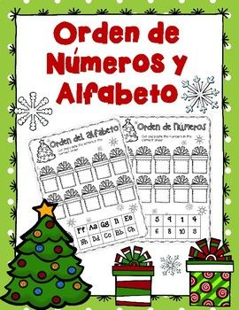 Christmas- Alphabet & Number Order in Spanish and English ...